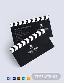 Noir Business Card Template