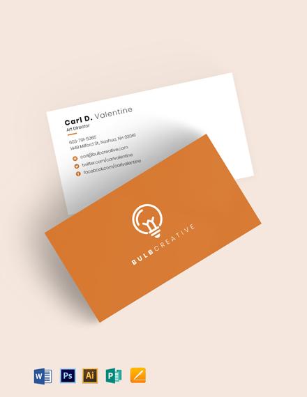 Orange Creative Business Card Template