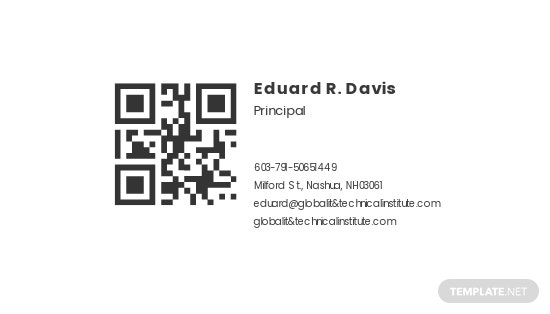 QR Code Global IT Business Card Template 1.jpe