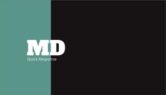 Quick Response Business Card Design Template