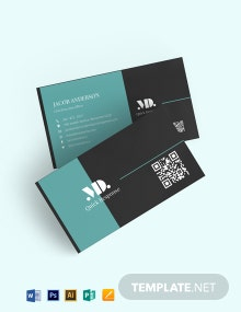 Quick Response Business Card Design Template