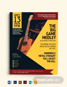 Acoustic Event Flyer Template