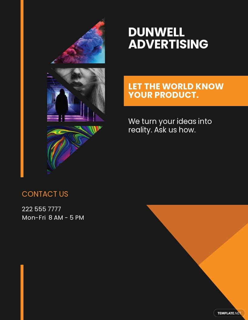 Advertisement Company Flyer Template