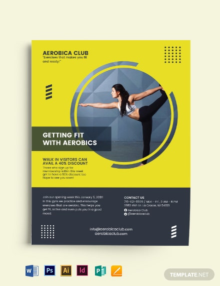 Aerobic Fit Flyer Template