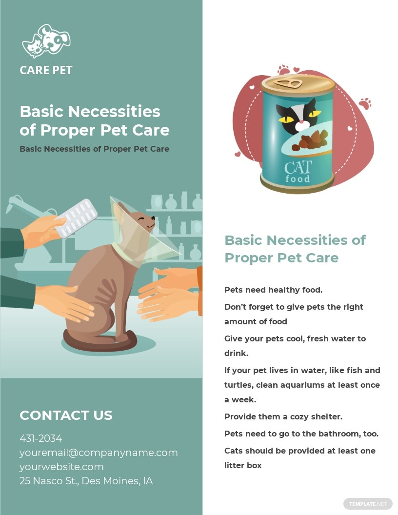 Animal and Pet Care Flyer Template