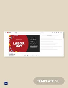 Free Labor Day YouTube Video Thumbnail Template