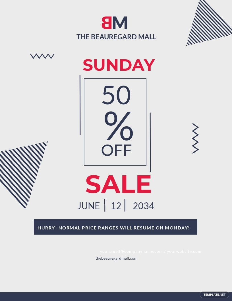 Any Event Day Sale Flyer Template