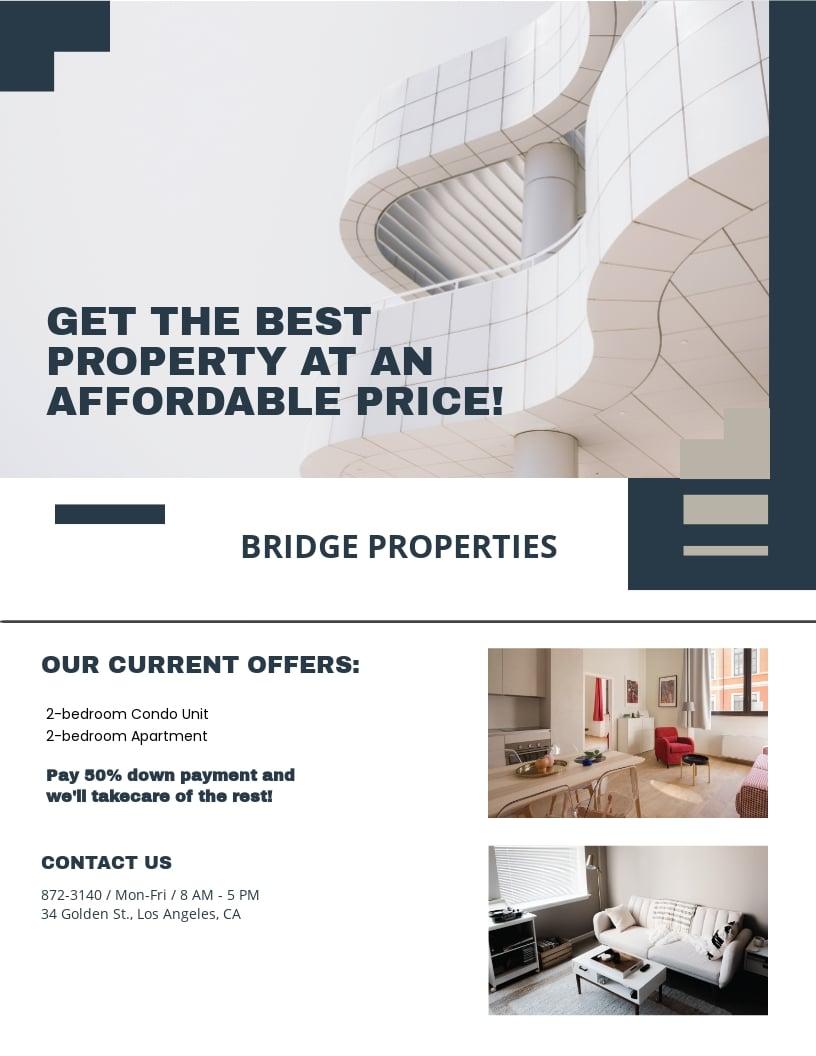 Apartment/ Condo Mortage Broker Flyer Template