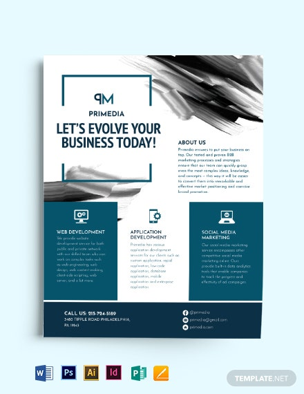 aquarelle business flyer template
