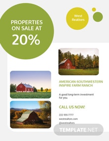 Farm Ranch Sale Flyer Template
