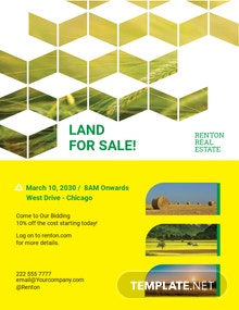 Land For Sale Flyer Template