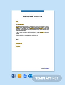 Free Business Proposal Request Letter