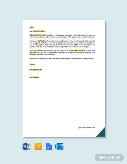 Cleaning Service Offer Letter