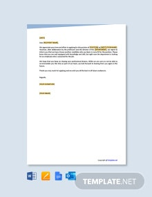 Free College Job Rejection Letter