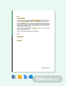 Free Contract Termination Letter Due To Poor Performance