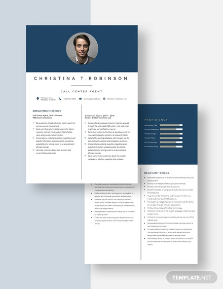 Call Center Agent Resume Download