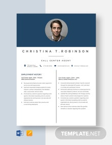 Call Center Agent Resume Template