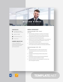 Commissioning Agent Resume Template