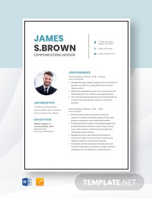 Communications Advisor Resume Template