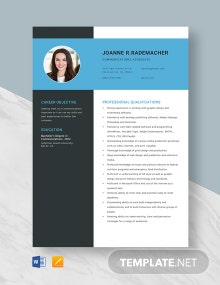Communications Associate Resume Template