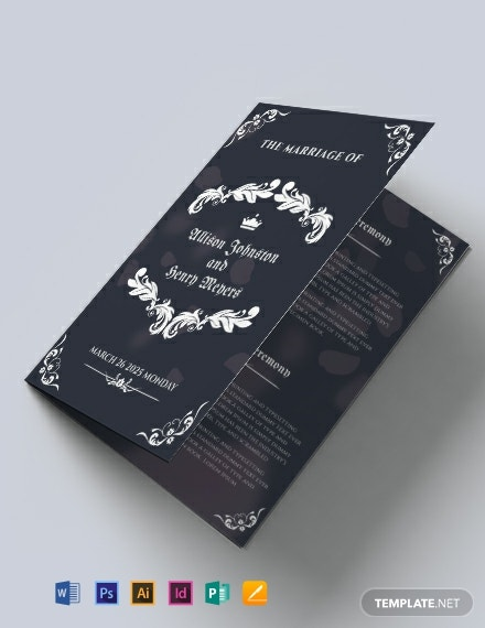 Free Wedding Bifold Brochure Template