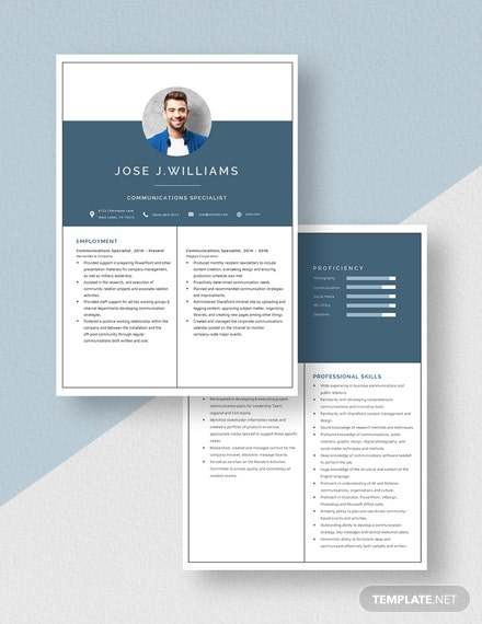 Communications Specialist Resume Download