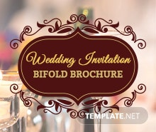 Free Wedding Invitation Bifold Brochure Template