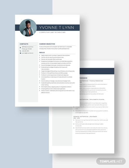 Computer Lab Technician Resume Download