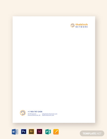 letterheads blue and orange
