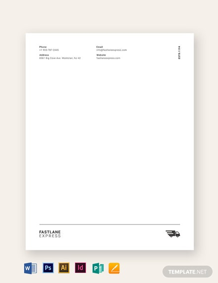 logistics company letterhead 1