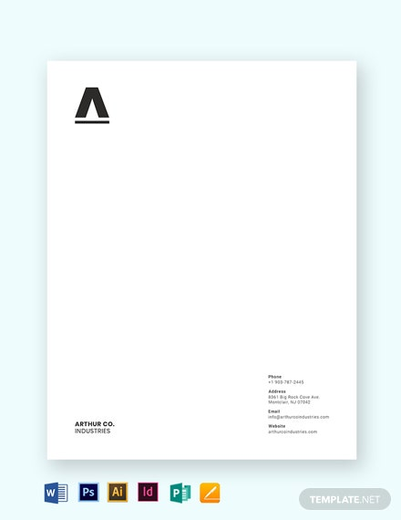 minimal business letterhead