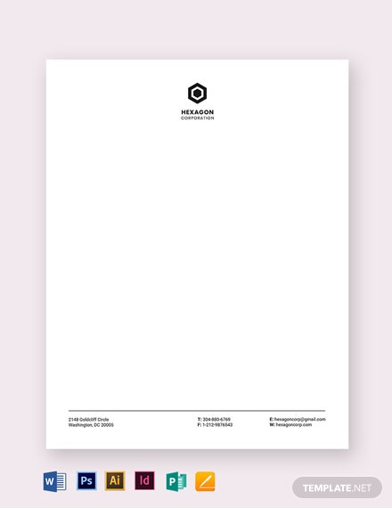 minimal small business letterhead