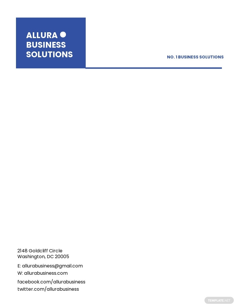 Modern Small Business Letterhead Template