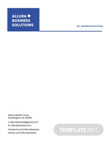 Modern Small Business Letterhead Template