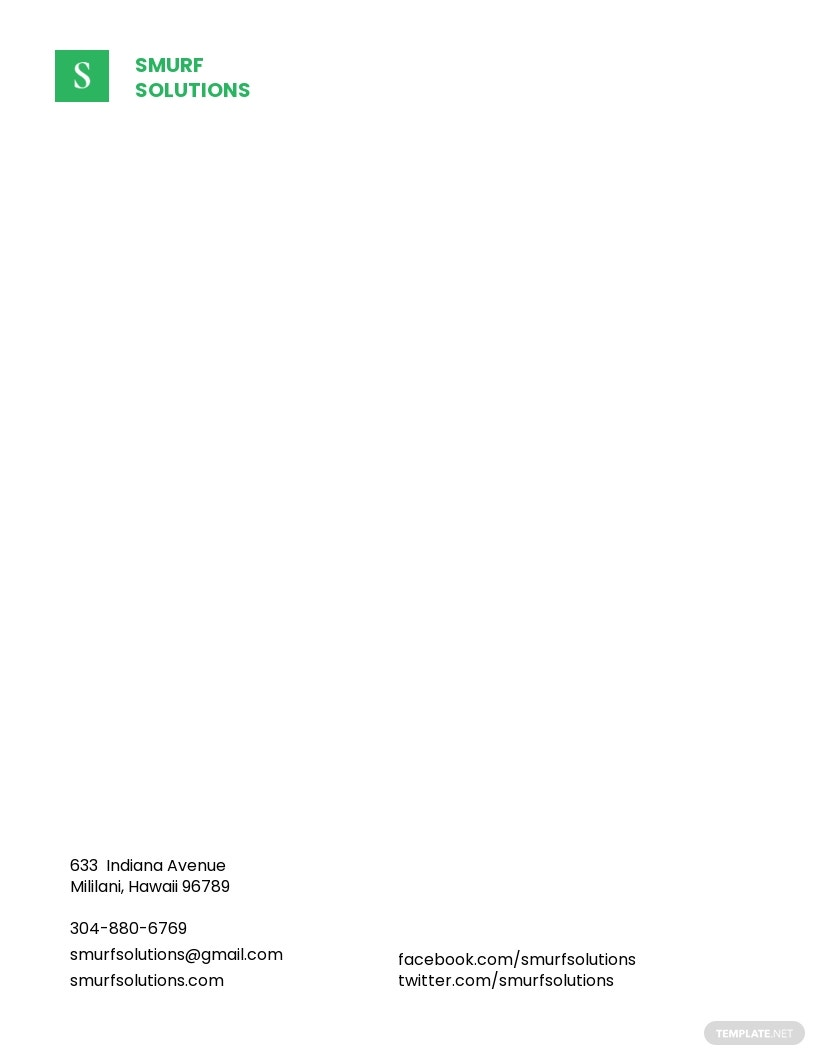 Printable Small Business Letterhead Template