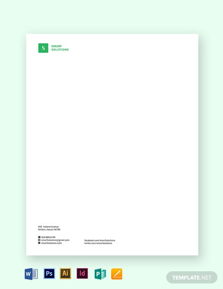 printable small business letterhead