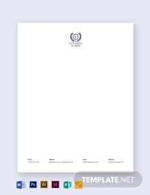 School Letterhead Template