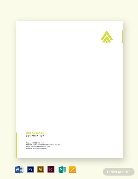 simple business letterhead