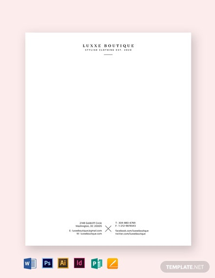 simple small business letterhead