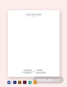 Simple Small Business Letterhead Template