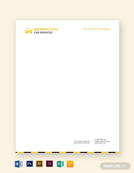 taxi letterhead