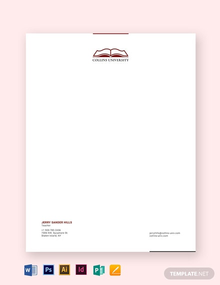 Teacher Letterhead Template