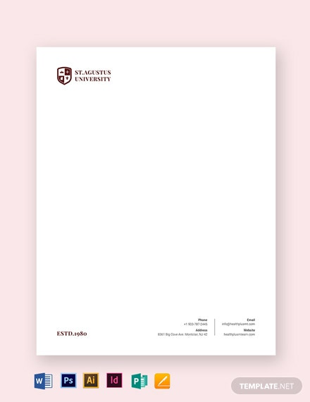 University Letterhead Template
