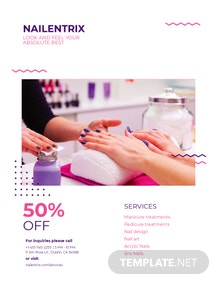 Beauty Nails Bar Flyer Template