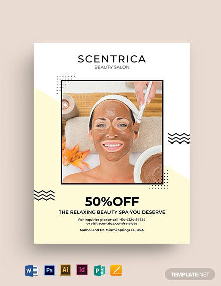 Beauty Spa center Flyer Template