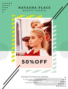 Beauty Studio Flyer Template