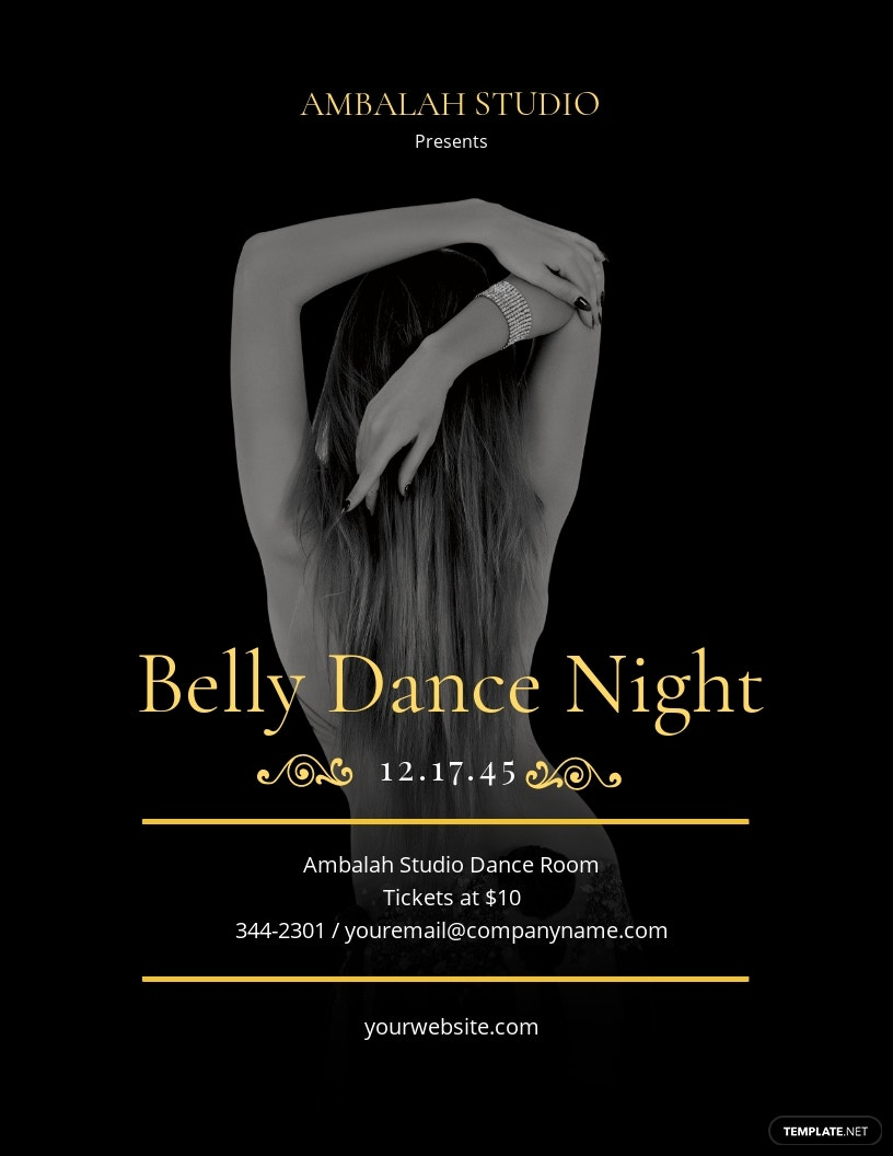 Belly Dancing Flyer Template