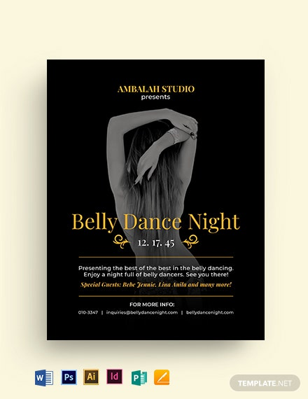 Belly Dancing Flyer