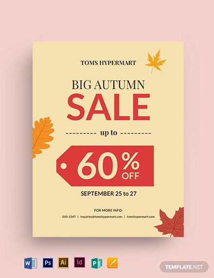 Big Autumn Sale Flyer Template