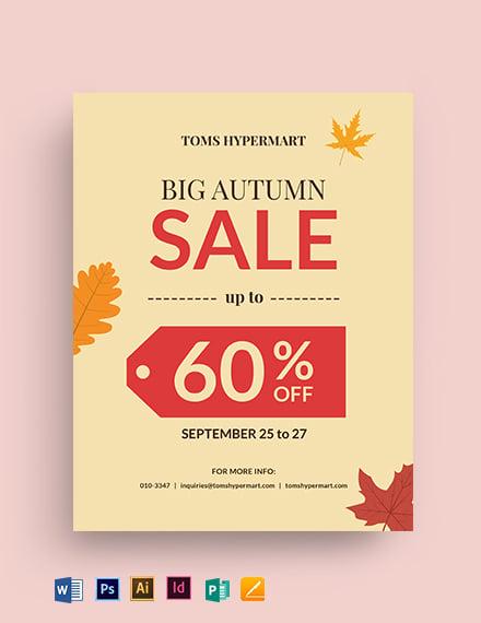 Big Autumn Sale Flyer
